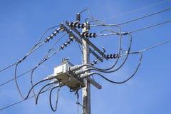 Θέση ηλεκτρικής ενέργειας κινηματογραφήσεων σε πρώτο πλάνο Στοκ Φωτογραφίες