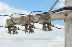 Θέση ηλεκτρικής ενέργειας με τη θρυαλλίδα Στοκ φωτογραφίες με δικαίωμα ελεύθερης χρήσης