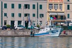 Θέση θαλάσσιων λιμένων Anzio Στοκ φωτογραφία με δικαίωμα ελεύθερης χρήσης