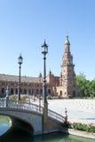 Θέση και πύργος λαμπτήρων στην πλατεία της Ισπανίας Στοκ Εικόνες