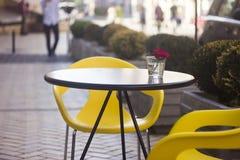 Θέση σε έναν καφέ Στοκ εικόνες με δικαίωμα ελεύθερης χρήσης