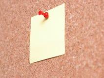 θέση σημειώσεων κίτρινη Στοκ Εικόνα