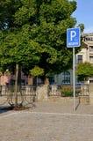 Θέση στάθμευσης για τα με ειδικές ανάγκες άτομα στοκ εικόνες