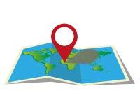 Θέση στον παγκόσμιο χάρτη Στοκ Εικόνες