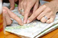Θέση στο χάρτη Στοκ εικόνα με δικαίωμα ελεύθερης χρήσης