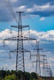 Θέση υψηλής τάσης ή πύργος υψηλής τάσης στοκ φωτογραφίες με δικαίωμα ελεύθερης χρήσης