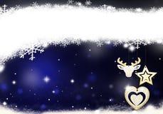 Θέση Χριστουγέννων για την μπλε απεικόνιση υποβάθρου Χριστουγέννων χιονιού κειμένων υποβάθρου αστεριών κειμένων απεικόνιση αποθεμάτων