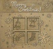 θέση Χριστουγέννων καρτών Στοκ Εικόνες