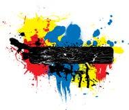 θέση χρωμάτων κατόχων splat Στοκ Εικόνες