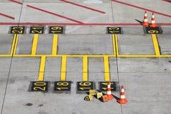Θέση χώρων στάθμευσης Στοκ εικόνα με δικαίωμα ελεύθερης χρήσης