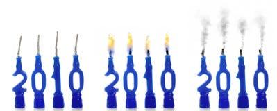 θέση 2010 κεριών Στοκ φωτογραφία με δικαίωμα ελεύθερης χρήσης