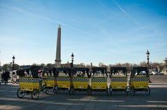 Θέση Concorde ταξί ποδηλάτων Στοκ φωτογραφία με δικαίωμα ελεύθερης χρήσης
