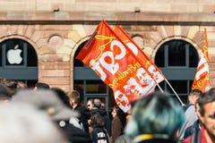 Θέση kleber πολιτικός Μάρτιος κατά τη διάρκεια ενός γαλλικού σε εθνικό επίπεδο agai ημέρας Στοκ φωτογραφία με δικαίωμα ελεύθερης χρήσης