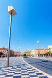 Θέση Massena με τα αγάλματα στις στήλες στη Νίκαια, Γαλλία Στοκ εικόνες με δικαίωμα ελεύθερης χρήσης