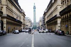 Θέση Vandome, Παρίσι, η στήλη Vendome Στοκ φωτογραφία με δικαίωμα ελεύθερης χρήσης