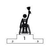 Θέστε εκτός λειτουργίας το νικητή παιχνιδιών αθλητικού Paralympic αναπηρίας Στοκ εικόνες με δικαίωμα ελεύθερης χρήσης