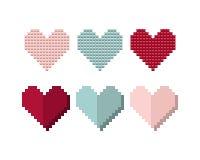 Θέστε τις καρδιές των κιβωτίων, ο σχεδιαστής Στοκ εικόνα με δικαίωμα ελεύθερης χρήσης