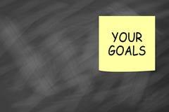 Θέστε τους στόχους σας στοκ εικόνες με δικαίωμα ελεύθερης χρήσης