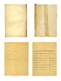 Θέστε το παλαιό αρχαίο τσαλακωμένο έγγραφο για το άσπρο υπόβαθρο Στοκ Εικόνες