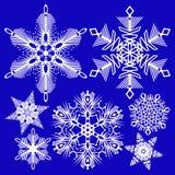 θέστε snowflakes Στοκ Φωτογραφία