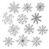 θέστε snowflakes απεικόνιση αποθεμάτων