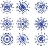 θέστε snowflakes Στοκ Φωτογραφίες