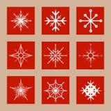 θέστε snowflakes Στοκ φωτογραφίες με δικαίωμα ελεύθερης χρήσης