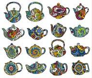 θέστε teapots Στοκ φωτογραφίες με δικαίωμα ελεύθερης χρήσης
