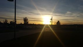 Θέτοντας ήλιος στοκ φωτογραφία με δικαίωμα ελεύθερης χρήσης