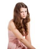 θέτοντας γυναίκα στούντι&om Στοκ Εικόνα