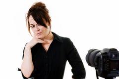 θέτοντας γυναίκα Στοκ εικόνα με δικαίωμα ελεύθερης χρήσης