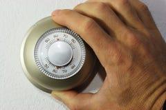 θέτοντας θερμοστάτης Στοκ εικόνες με δικαίωμα ελεύθερης χρήσης