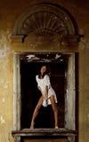 θέτοντας προκλητική γυν&alph Στοκ φωτογραφία με δικαίωμα ελεύθερης χρήσης
