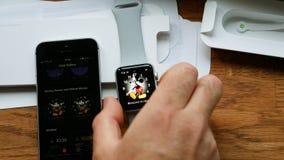 Θέτοντας πρόσωπο ρολογιών ρολογιών της Apple Στοκ φωτογραφίες με δικαίωμα ελεύθερης χρήσης