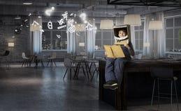 Θέλει να γίνει αστροναύτης Μικτά μέσα Στοκ Εικόνες