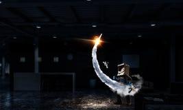 Θέλει να γίνει αστροναύτης Μικτά μέσα Στοκ φωτογραφίες με δικαίωμα ελεύθερης χρήσης