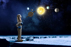Θέλει να γίνει αστροναύτης Στοκ εικόνα με δικαίωμα ελεύθερης χρήσης
