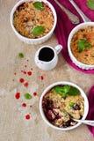Θίχουλο με τα μούρα, oatmeal και τα καρύδια Στοκ φωτογραφία με δικαίωμα ελεύθερης χρήσης