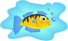 θαλάσσια κολύμβηση ψαριών διανυσματική απεικόνιση