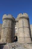 Θαλάσσια πύλη στην παλαιά πόλη της Ρόδου στοκ εικόνες με δικαίωμα ελεύθερης χρήσης