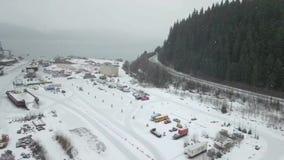 Θαλάσσια σκάφη στην Αλάσκα απόθεμα βίντεο