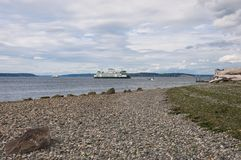 Θαλάσσιος δρόμος μεταξύ Mukilteo και του Clinton Στοκ εικόνες με δικαίωμα ελεύθερης χρήσης