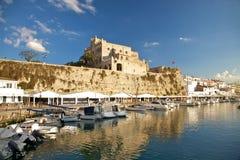 Θαλάσσιος λιμένας Ciutadella στοκ εικόνα με δικαίωμα ελεύθερης χρήσης