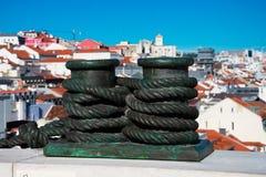 Θαλάσσιο γλυπτό σχοινιών στην αψίδα Rua Αουγκούστα Στοκ Εικόνα