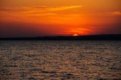 Θαλάσσιο ηλιοβασίλεμα στο Κόλπο Taman Timelapse Στοκ φωτογραφία με δικαίωμα ελεύθερης χρήσης