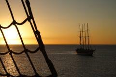 θαλάσσιο ηλιοβασίλεμα Στοκ Φωτογραφία