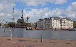Θαλάσσιο μουσείο Άμστερνταμ Στοκ εικόνα με δικαίωμα ελεύθερης χρήσης