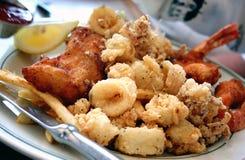 θαλασσινά γευμάτων Στοκ Εικόνες