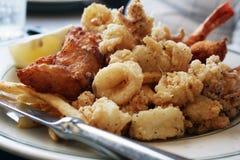 θαλασσινά γευμάτων Στοκ Εικόνα
