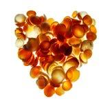 θαλασσινά κοχύλια καρδ&iota στοκ εικόνα με δικαίωμα ελεύθερης χρήσης